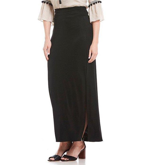 アイエヌ スタジオ レディース スカート ボトムス Solid Pull-On Ottoman Maxi Skirt Black