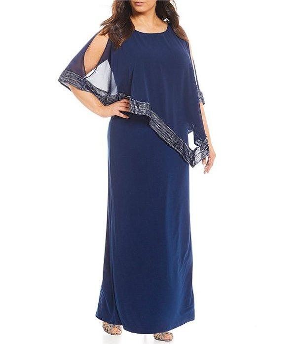 イグナイト レディース ワンピース トップス Plus Size Asymmetric Popover Long Dress Deep Navy