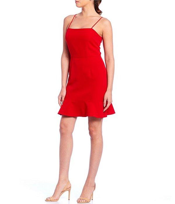 ジャンビニ レディース ワンピース トップス Evie Ruffle Hem Dress Red