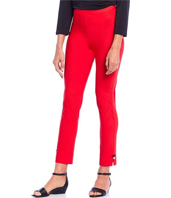 アイシーコレクション レディース デニムパンツ ボトムス Pearl Detail Pull-On Ankle Pant Red