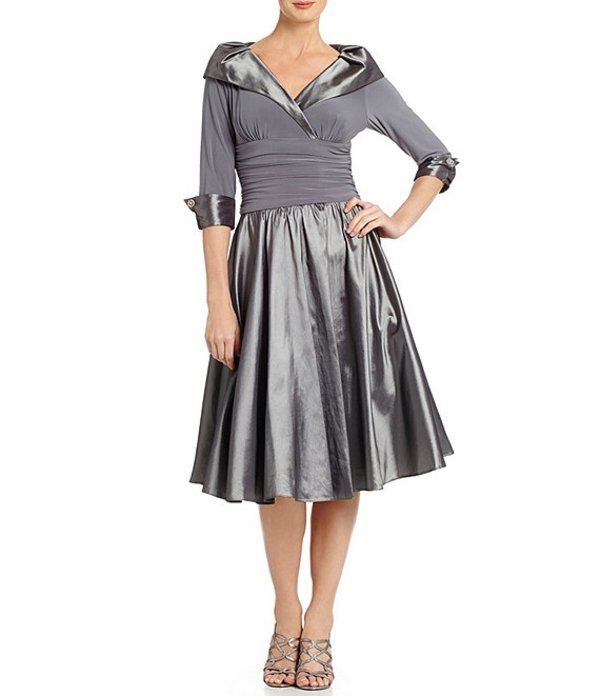 ジェシカハワード レディース ワンピース トップス Portrait Collar Midi Dress Silver Grey