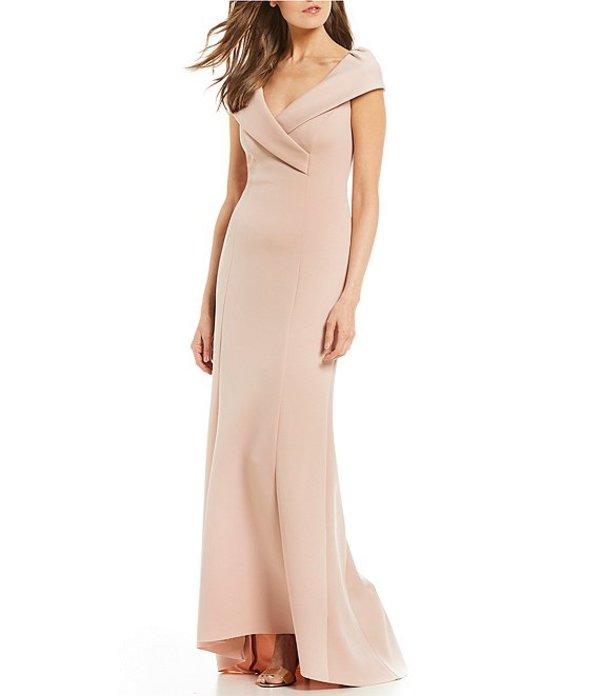ジェシカハワード レディース ワンピース トップス Cap Sleeve Portrait Collar Gown Blush
