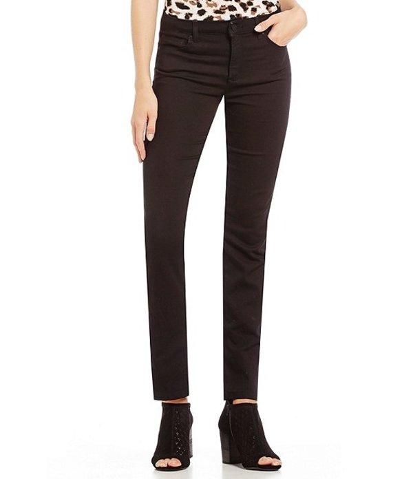 ジョーンズニューヨーク レディース デニムパンツ ボトムス Lexington Onyx Black Stretch Denim Straight-Leg Jeans ONYX