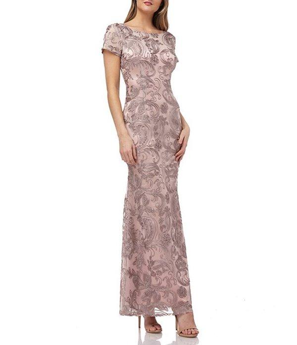 ジェイエスコレクションズ レディース ワンピース トップス Soutache Embroidered Sheath Gown Maple Sugar