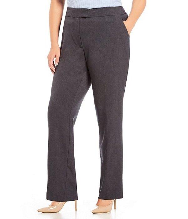 ジョーンズニューヨーク レディース カジュアルパンツ ボトムス Plus Size Sydney Straight Leg Pant Charcoal Heather