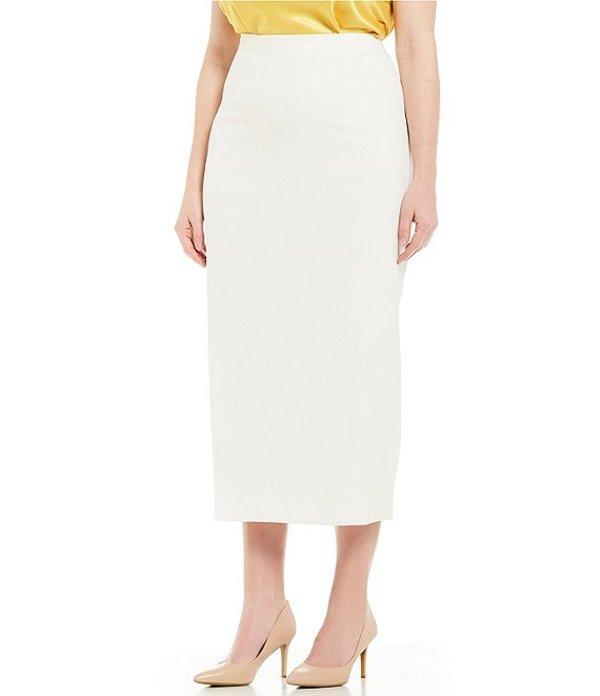 カスパール レディース スカート ボトムス Plus Crepe Column Skirt Vanilla