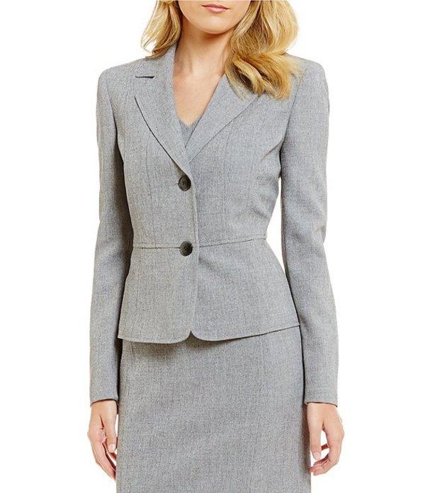 カスパール レディース ジャケット・ブルゾン アウター Notch Collar 2 Button Jacket Grey/Black