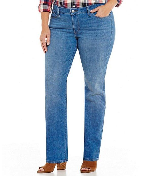 リーバイス レディース デニムパンツ ボトムス Levi'sR Plus Size 414 Classic Straight Jeans Blue Mixtape