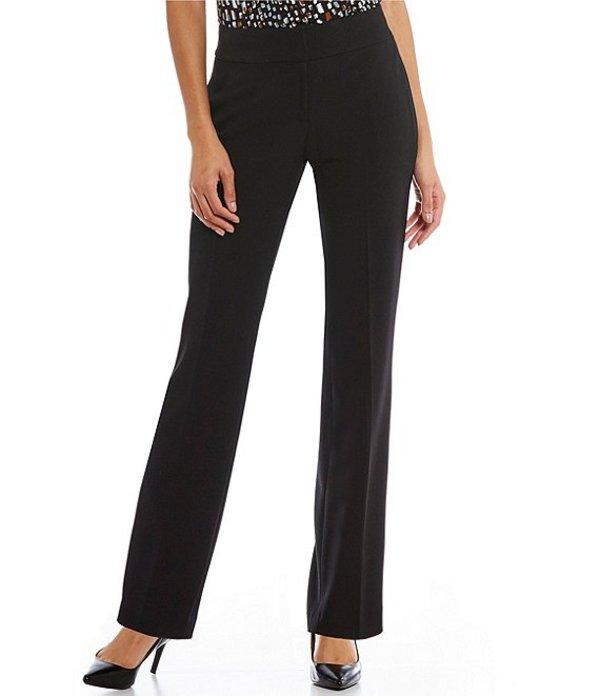 カスパール レディース デニムパンツ ボトムス Petite Solid Crepe Slim Pant Black