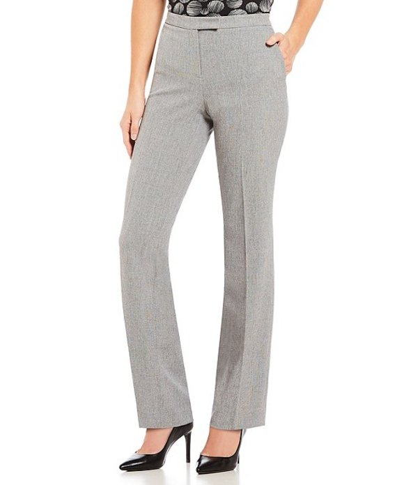 カスパール レディース デニムパンツ ボトムス Stretch Woven Straight-Leg Pants GreyBlack