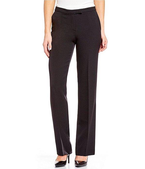 カスパール レディース デニムパンツ ボトムス Petite Size Stretch Crepe Straight-Leg Pants Black
