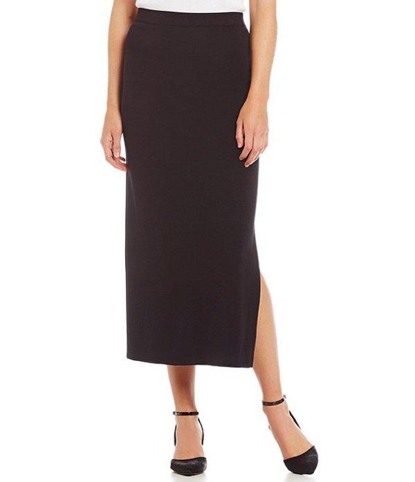 ミソック レディース スカート ボトムス Knit Long Skirt Black