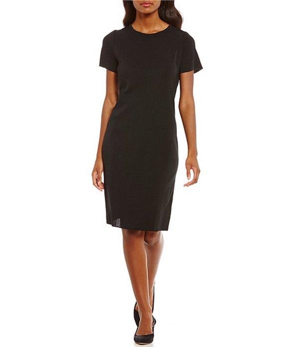 ミンウォン レディース ワンピース トップス Short Sleeve Washable Dress Black
