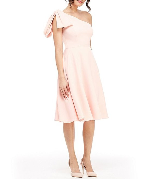 ギャルミーツグラム レディース ワンピース トップス Yvonne Bow One Shoulder A-Line Midi Dress Rose Quartz