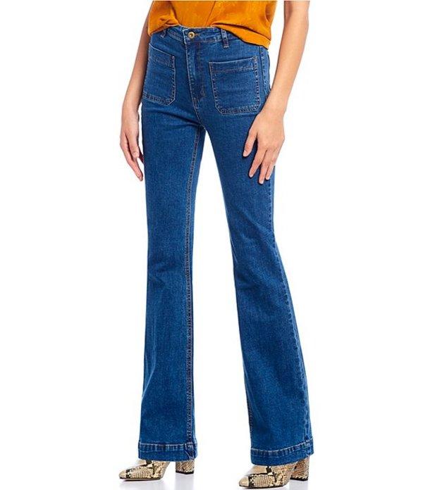 チェルシーアンドバイオレット レディース デニムパンツ ボトムス Flare Denim Jeans Dark Indigo