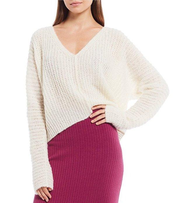 フリーピープル レディース Tシャツ トップス Moonbeam Alpaca V-Neck Crop Sweater Ivory