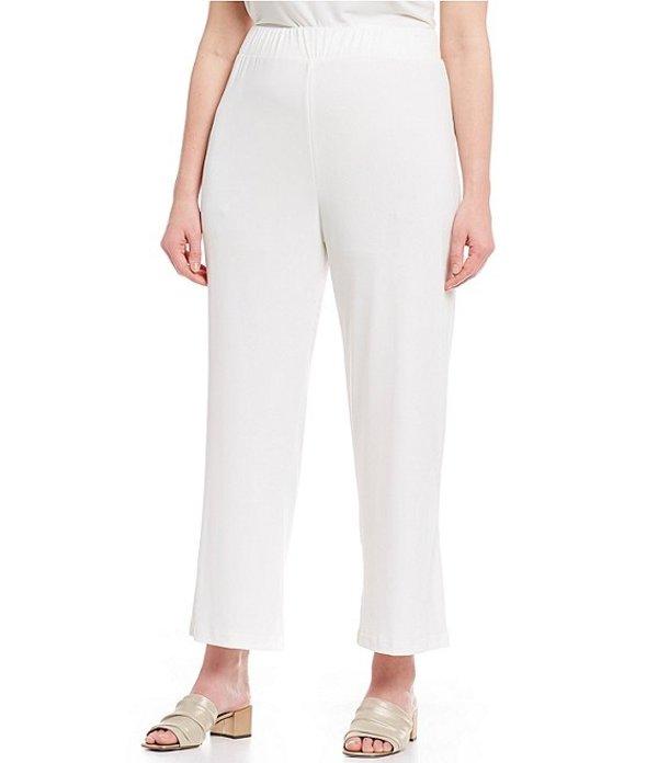 アイシーコレクション レディース デニムパンツ ボトムス Plus Size Pull-On Pants Ivory