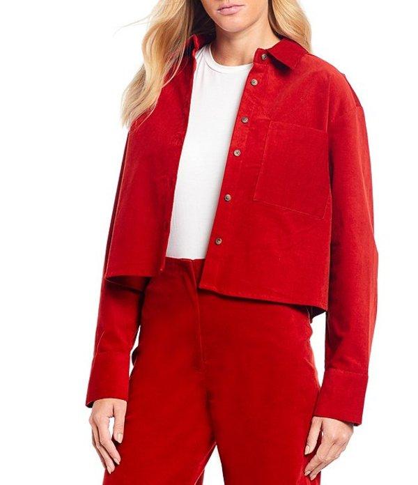 ジャンビニ レディース シャツ トップス Dalia Cotton Blend Button Front Corduroy Shirt Spice