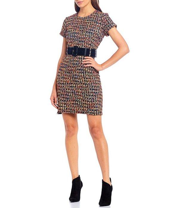 ジュリーブラウン レディース ワンピース トップス Belted Tweed Sprinkle Sheath Dress Kaleidoscope