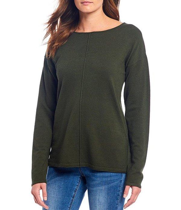 ギブソンアンドラティマー レディース Tシャツ トップス Front Seam Scoop Neck Sweater Cypress