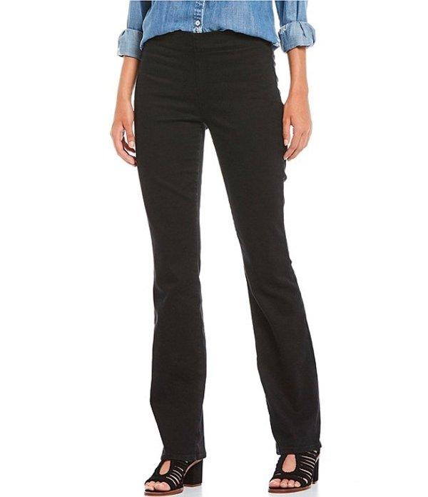 エヌワイディージェイ レディース デニムパンツ ボトムス Petite Size Marilyn Straight Leg Pull-On Jeans Black