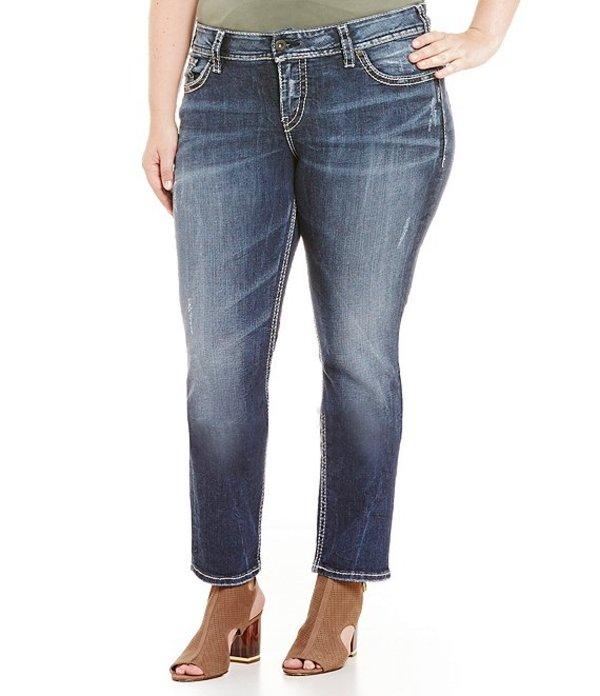 シルバー ジーンズ レディース デニムパンツ ボトムス Plus Suki Mid Straight Leg Jeans Indigo