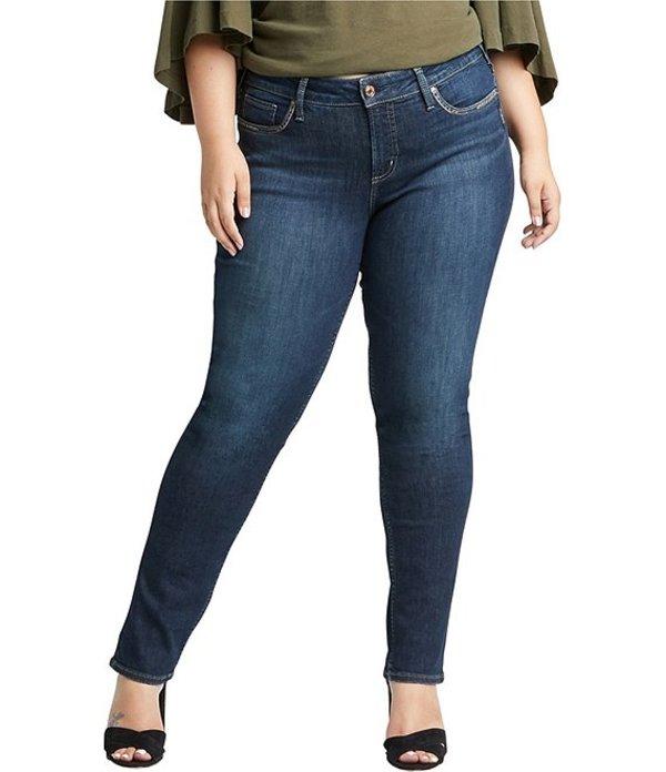 シルバー ジーンズ レディース デニムパンツ ボトムス Plus Size Elyse Straight Leg Jeans Indigo