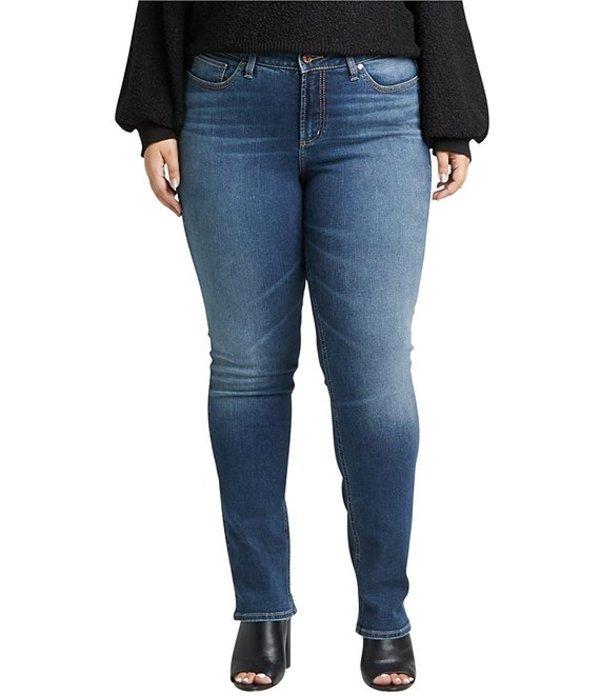 シルバー ジーンズ レディース デニムパンツ ボトムス Plus Size Avery High Rise Straight Leg Jeans Indigo