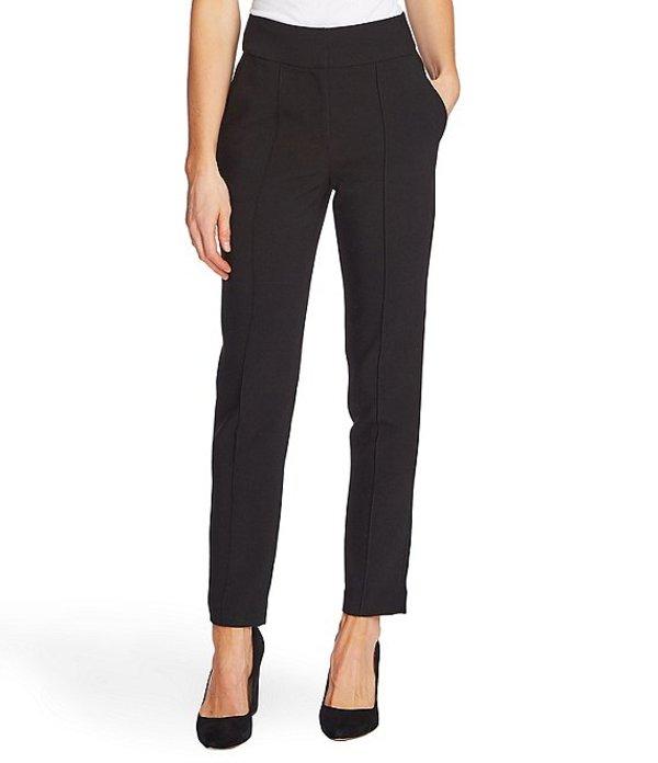 ヴィンスカムート レディース デニムパンツ ボトムス Bi-Stretch Crepe Pintuck Skinny Ankle Pants Rich Black