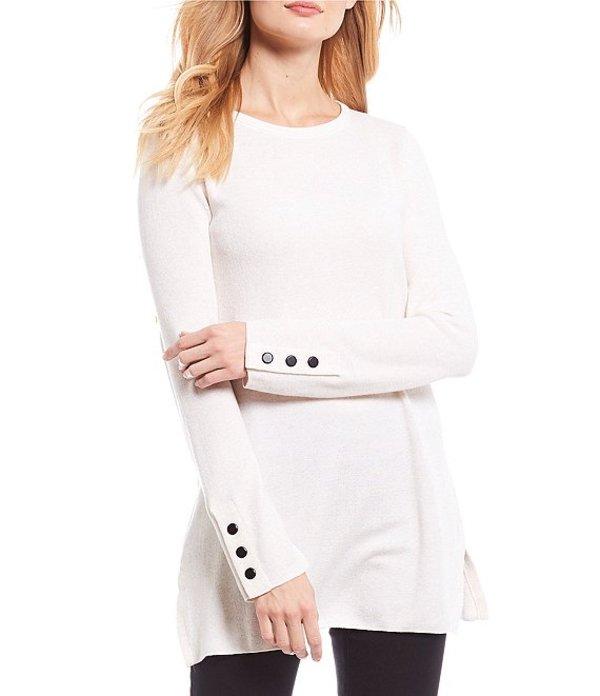ゾゾ レディース Tシャツ トップス Long Sleeve Knit Tunic Milk White