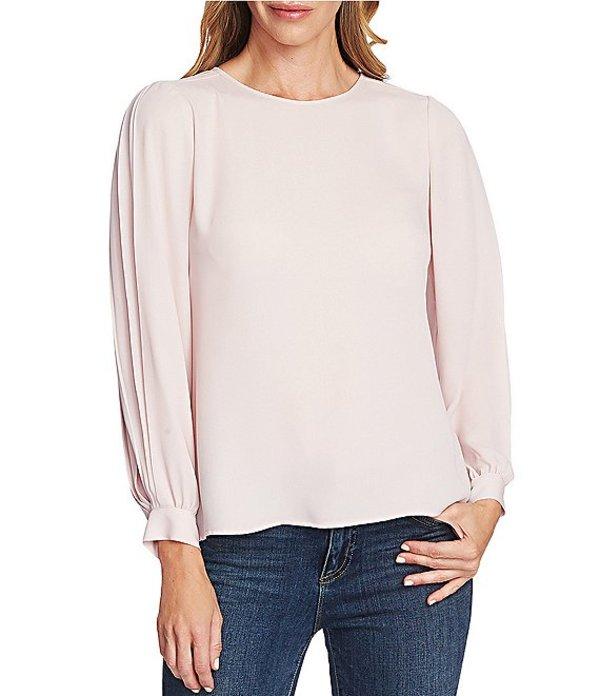 ヴィンスカムート レディース シャツ トップス Pleated Long Cuffed Sleeve Blouse Soft Pink