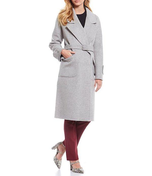 アントニオ メラーニ レディース コート アウター Marilyn Single Breasted Belted Wool Coat Heather Grey