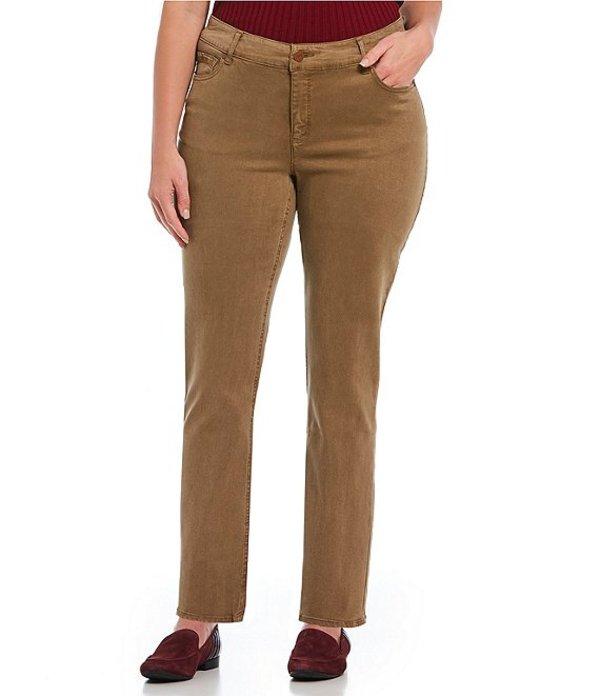ジョーンズニューヨーク レディース デニムパンツ ボトムス Plus Size Lexington Straight Pant Mocha