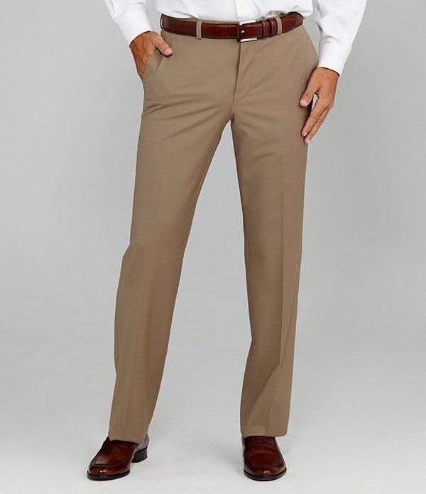ダニエル クレミュ メンズ カジュアルパンツ ボトムス Flat-Front Modern Fit Travel Smart Dress Pants Tan
