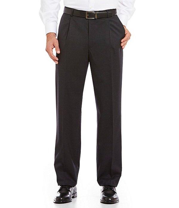 ハート シャフナー マルクス メンズ カジュアルパンツ ボトムス Tailored Single-Pleat Regular Chicago Fit Dress Pants Charcoal