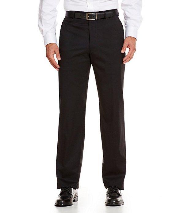 ハート シャフナー マルクス メンズ カジュアルパンツ ボトムス Tailored Flat-Front Chicago Dress Pants Black