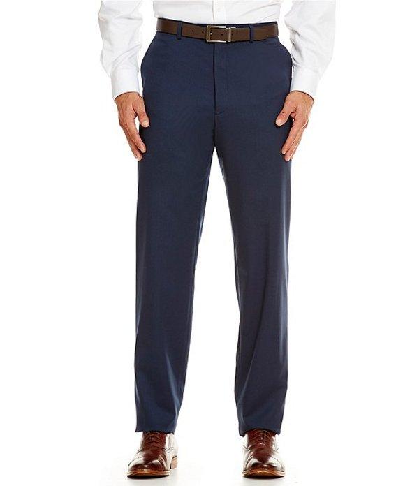 ハート シャフナー マルクス メンズ カジュアルパンツ ボトムス Tailored Flat-Front Chicago Dress Pants Navy