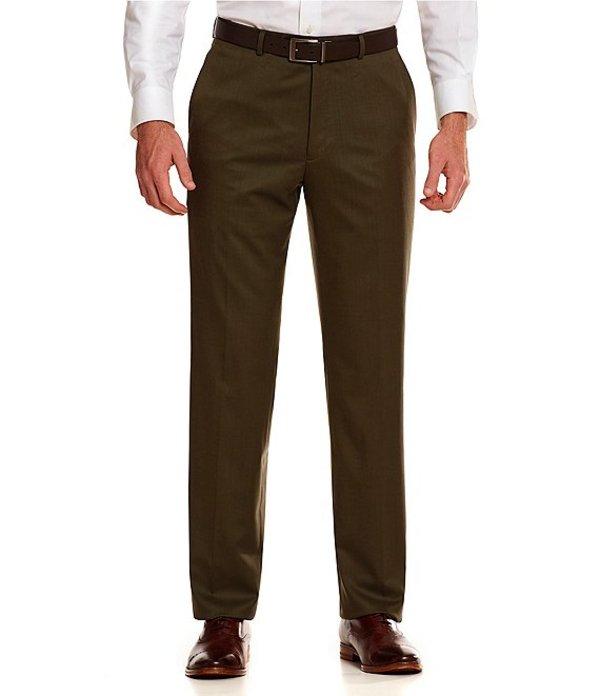 ハート シャフナー マルクス メンズ カジュアルパンツ ボトムス Tailored Flat-Front Chicago Dress Pants Olive