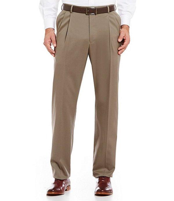 ハート シャフナー マルクス メンズ カジュアルパンツ ボトムス Tailored Pleated Washable Wool Regular Chicago Fit Dress Pants Tan