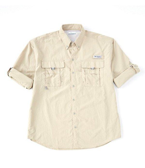 コロンビア メンズ シャツ トップス PFG Bahama II Omni-Shade Long-Sleeve Solid Shirt Fossil