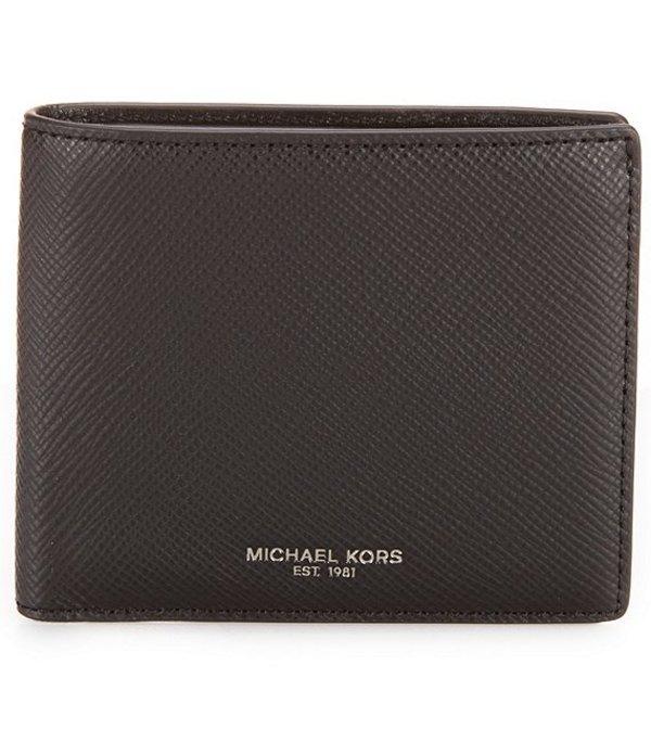 マイケルコース メンズ 財布 アクセサリー Harrison Leather Billfold Wallet Black