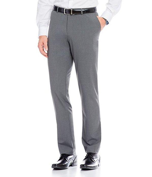 カルバンクライン メンズ カジュアルパンツ ボトムス Slim-Fit End-On-End Bi-Stretch Flat Front Suit Separate Pants Cinder Block