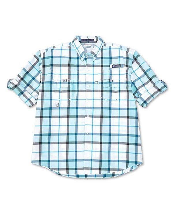 コロンビア メンズ シャツ トップス PFG Super Bahama Plaid Long-Sleeve Woven Shirt New Gulf Stream Plaid