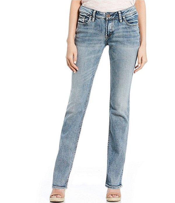 シルバー ジーンズ レディース デニムパンツ ボトムス Suki Light Wash Straight Jeans Indigo