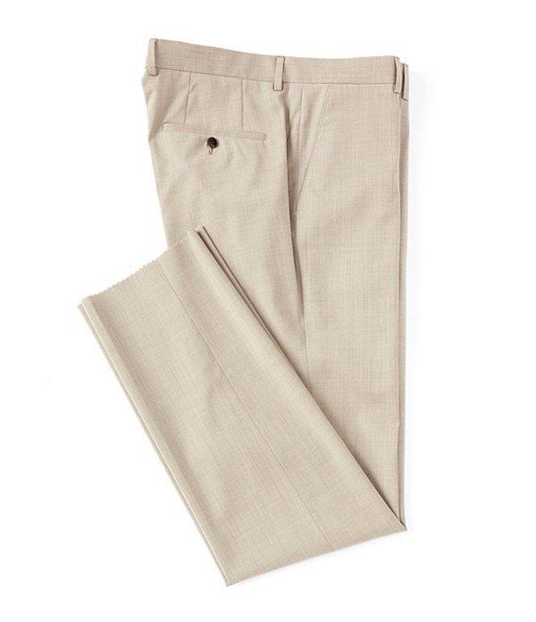 ヒューゴボス メンズ カジュアルパンツ ボトムス Madisen Classic Fit Flat Front Solid Wool Dress Pants Tan