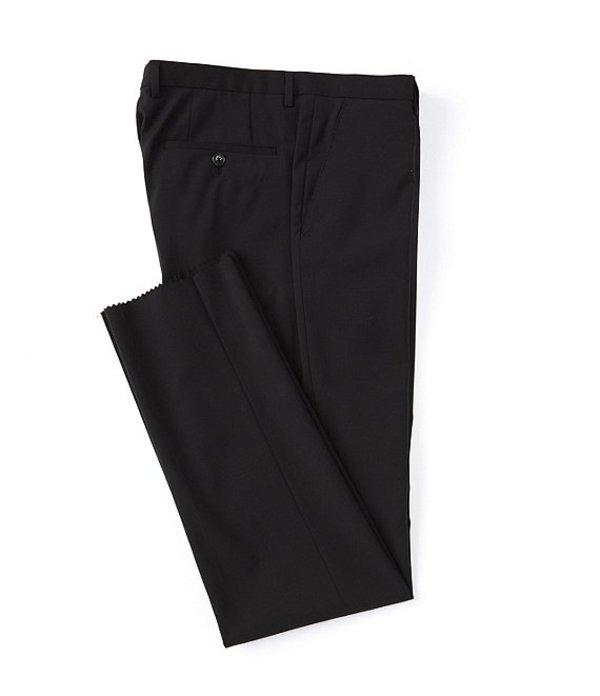 ヒューゴボス メンズ カジュアルパンツ ボトムス Leenon Regular Fit Flat Front Solid Wool Dress Pants Black
