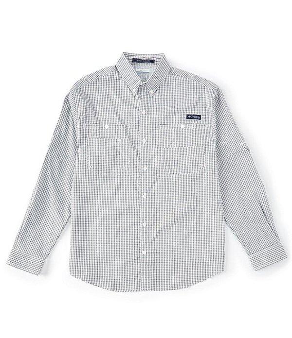 コロンビア メンズ シャツ トップス Super Tamiami Gingham Roll-up Sleeve Woven Shirt Black Gingham