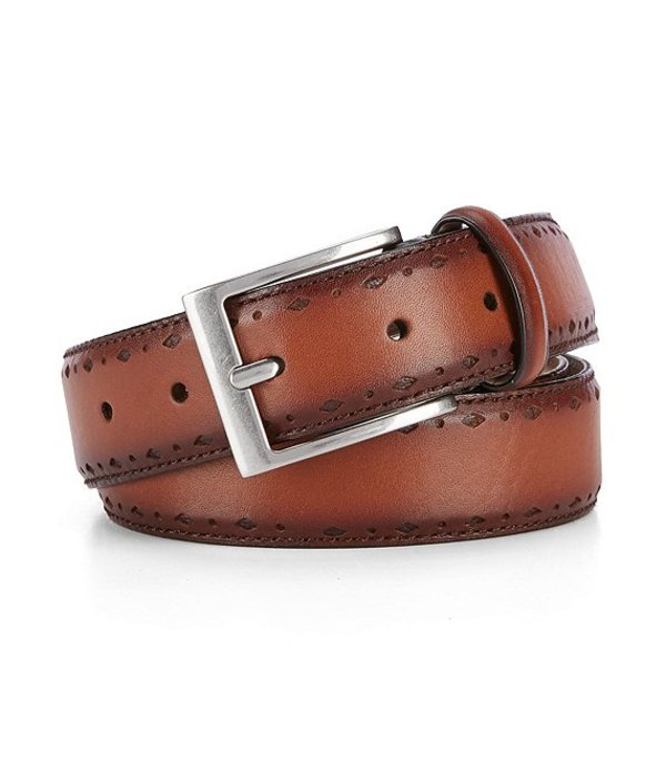 コールハーン メンズ カジュアルパンツ ボトムス Diamond Perforated Leather Belt British Khaki