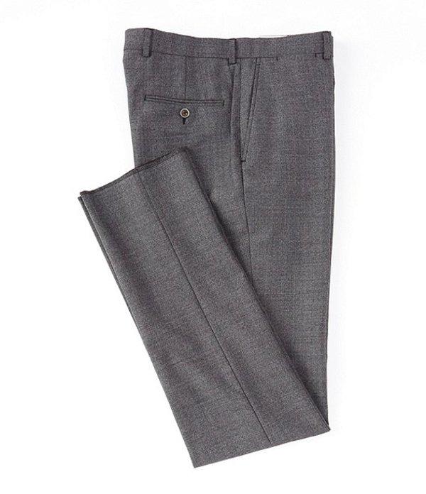 ハート シャフナー マルクス メンズ カジュアルパンツ ボトムス Modern Fit Flat Front Solid Wool Dress Pants Medium Grey
