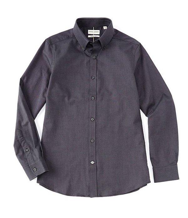 ハワード メンズ シャツ トップス Long Sleeve Crosby Solid Oxford Sportshirt Dark Grey